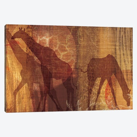 Safari Silhouette III Canvas Print #TAN166} by Tandi Venter Canvas Art Print