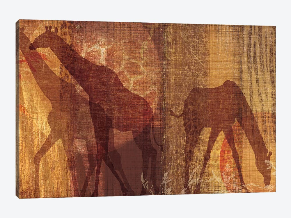 Safari Silhouette III by Tandi Venter 1-piece Art Print