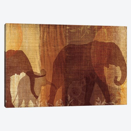 Safari Silhouette IV Canvas Print #TAN167} by Tandi Venter Canvas Print