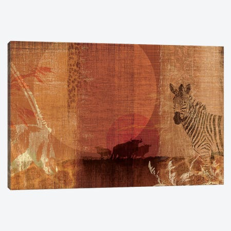 Safari Sunset I Canvas Print #TAN168} by Tandi Venter Canvas Art