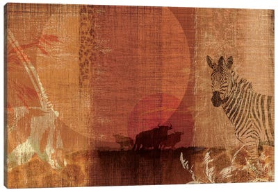 Safari Sunset I Canvas Print #TAN168