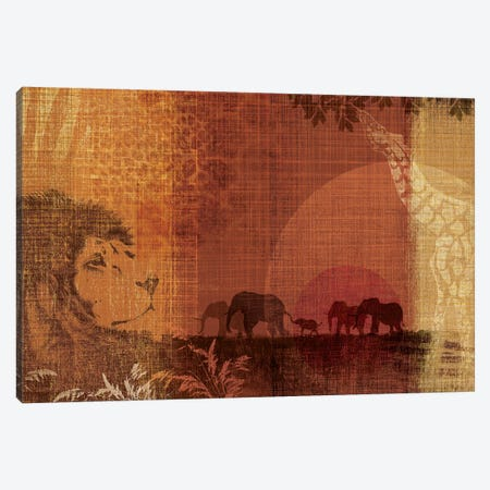 Safari Sunset II Canvas Print #TAN169} by Tandi Venter Canvas Wall Art