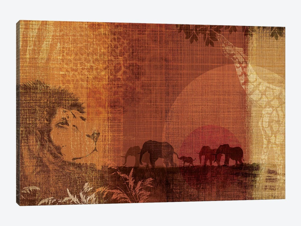 Safari Sunset II 1-piece Canvas Artwork