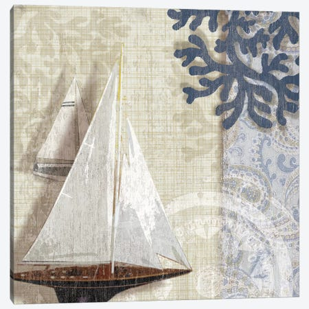 Sailing Adventure I Canvas Print #TAN170} by Tandi Venter Art Print