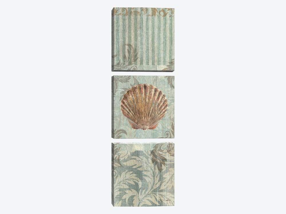 Seaside Heirloom I by Tandi Venter 3-piece Canvas Art Print