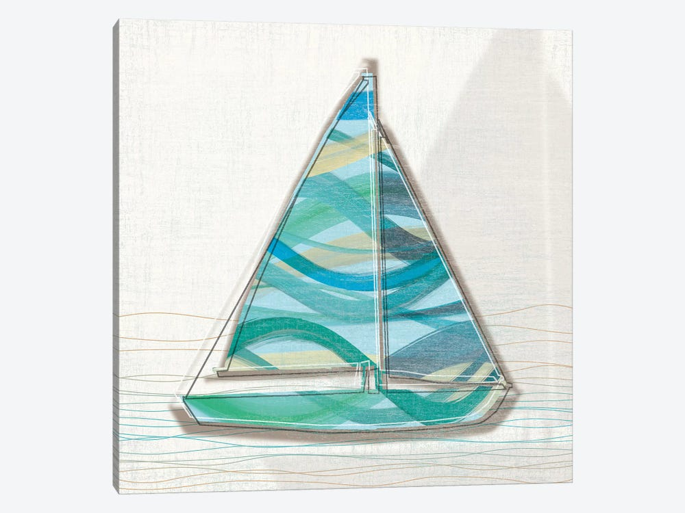 Smooth Sailing I by Tandi Venter 1-piece Canvas Art
