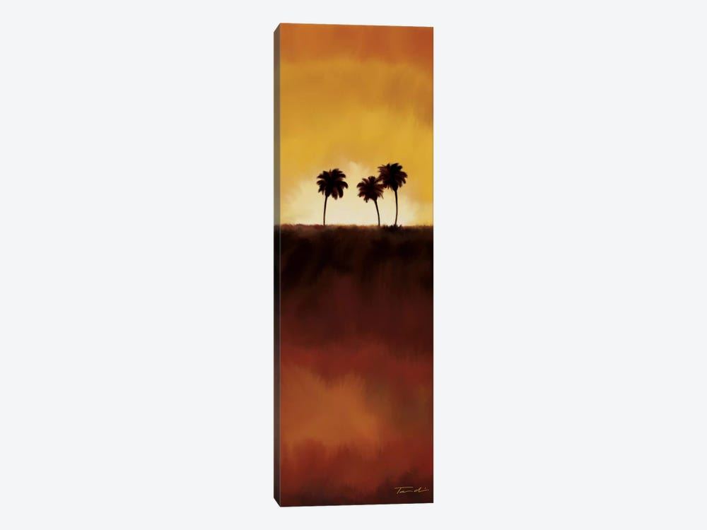 Sunset Palms I 1-piece Canvas Art
