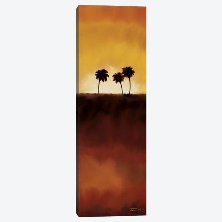 Sunset Palms I Canvas Print #TAN196} by Tandi Venter Canvas Wall Art