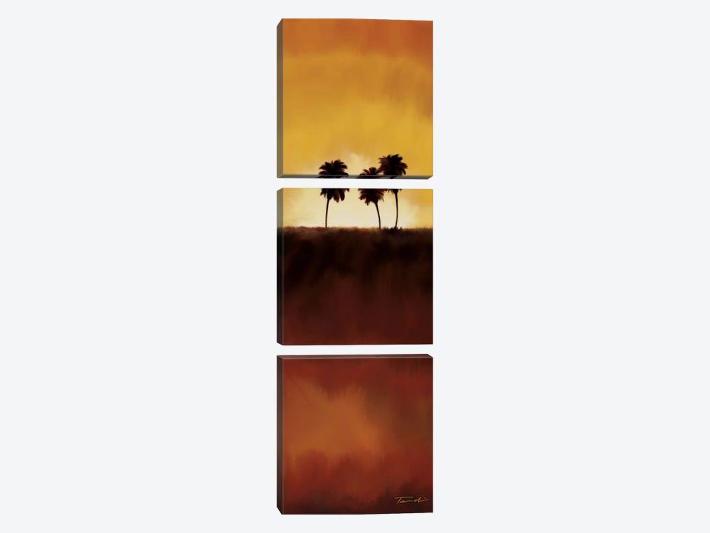 Sunset Palms I by Tandi Venter 3-piece Canvas Wall Art