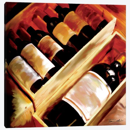 The Wine Collection I Canvas Print #TAN199} by Tandi Venter Art Print