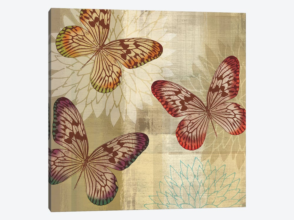 Tropical Butterflies I by Tandi Venter 1-piece Canvas Art Print