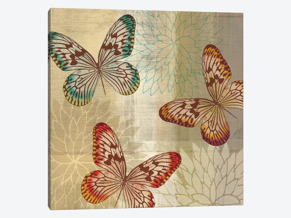 Tropical Butterflies II by Tandi Venter 1-piece Canvas Wall Art