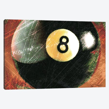 Behind The 8 Ball Canvas Print #TAN23} by Tandi Venter Canvas Wall Art