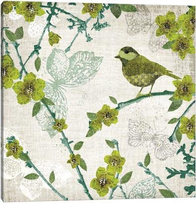 Birds And Butterflies II Canvas Print #TAN25