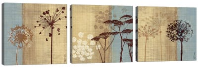 Silhouettes In The Breeze Triptych Canvas Art Print