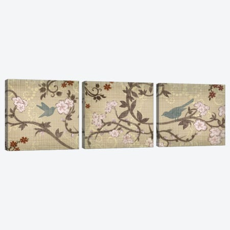 Songbird Triptych Canvas Print Set #TAN3HSET002} by Tandi Venter Canvas Wall Art