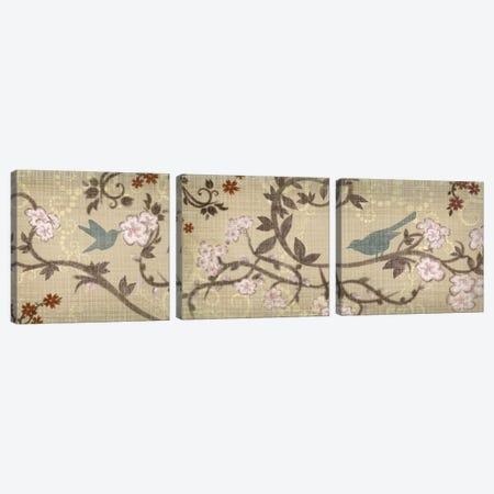 Songbird Triptych Canvas Print Set #TAN3HSET002} by Tandi Venter Canvas Wall Art