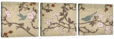 Songbird Triptych Canvas Art Print