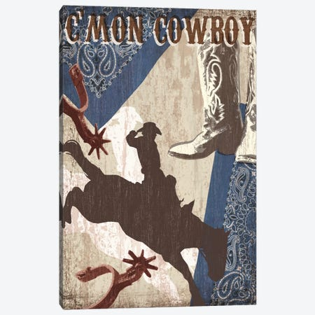 C'mon Cowboy Canvas Print #TAN51} by Tandi Venter Canvas Print