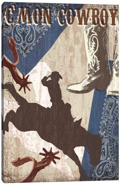 C'mon Cowboy Canvas Art Print