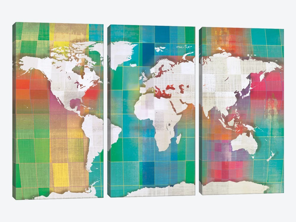 Color My World by Tandi Venter 3-piece Canvas Artwork