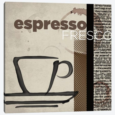 Espresso Fresco Canvas Print #TAN72} by Tandi Venter Canvas Art Print