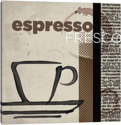 Espresso Fresco Canvas Art Print