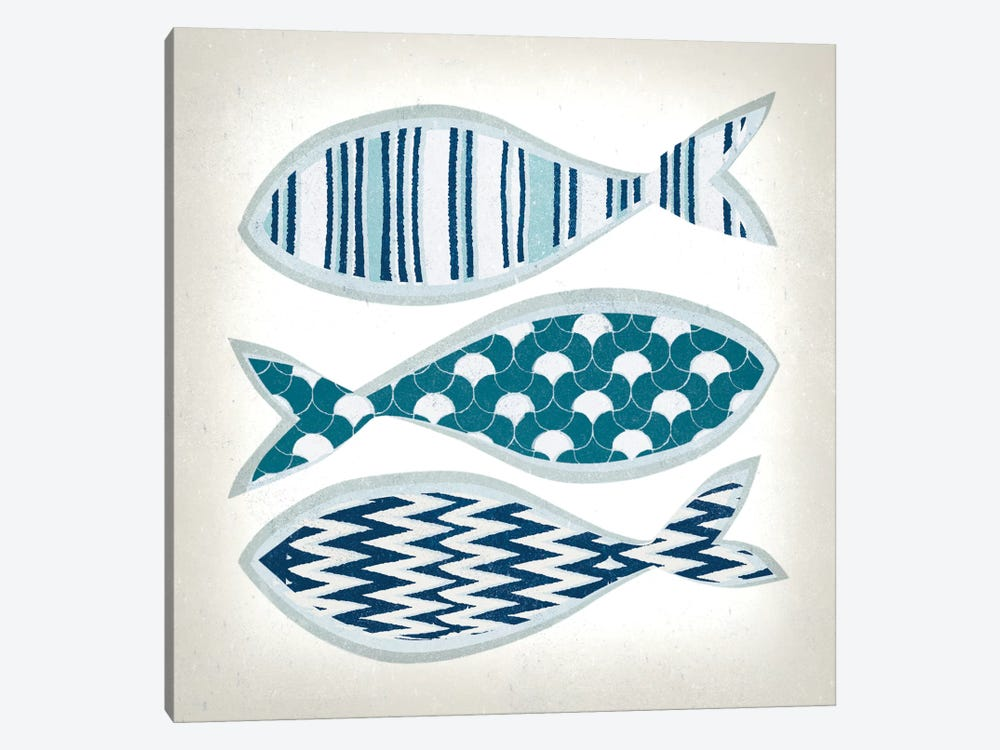 Fish Patterns I by Tandi Venter 1-piece Canvas Art