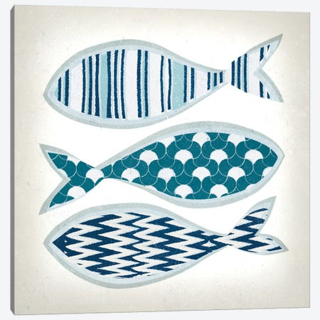 Fish Patterns I Canvas Print #TAN76} by Tandi Venter Canvas Art