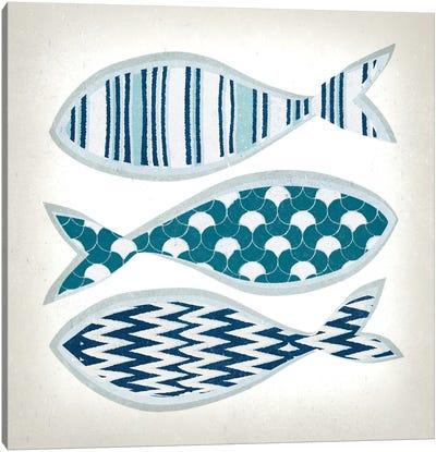 Fish Patterns I Canvas Art Print