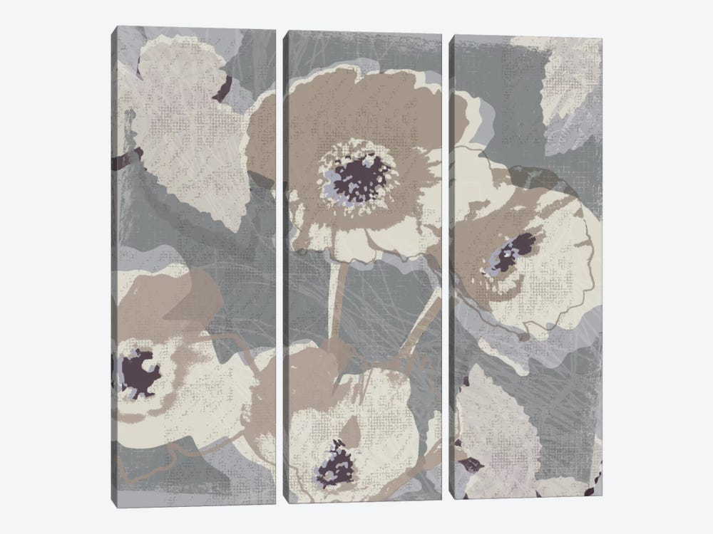 Flower Layers I 3-piece Canvas Art