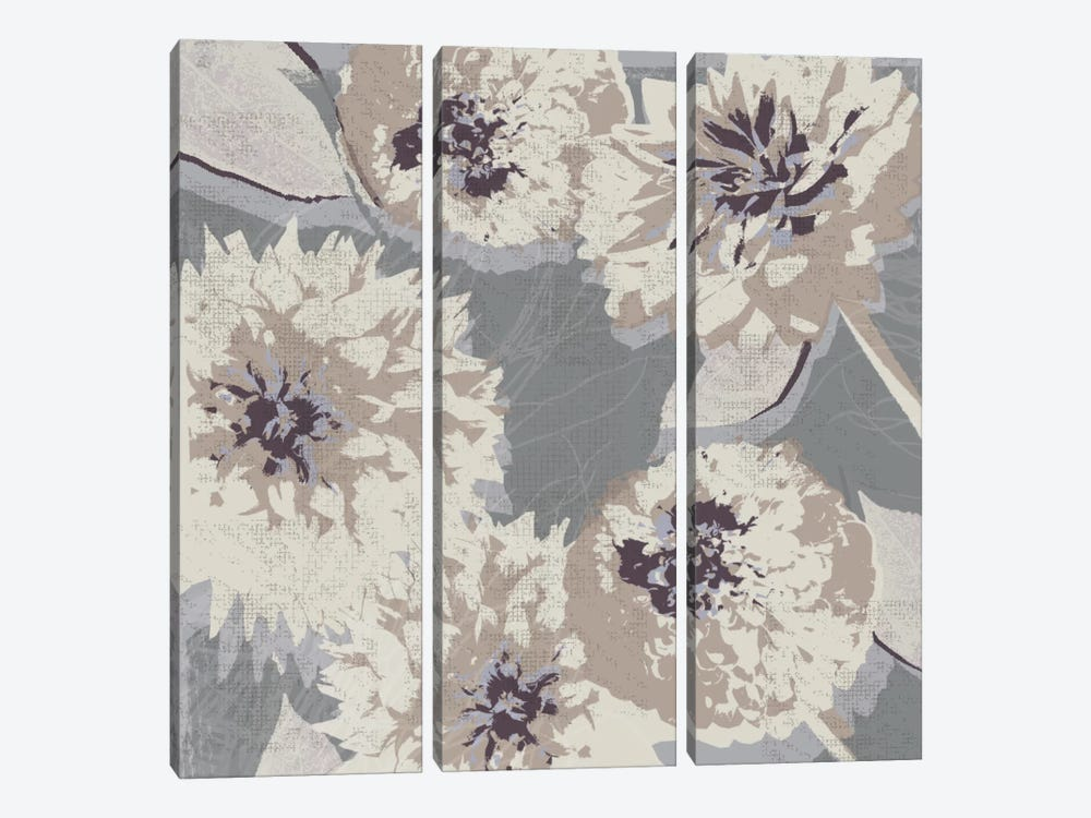 Flower Layers II by Tandi Venter 3-piece Art Print