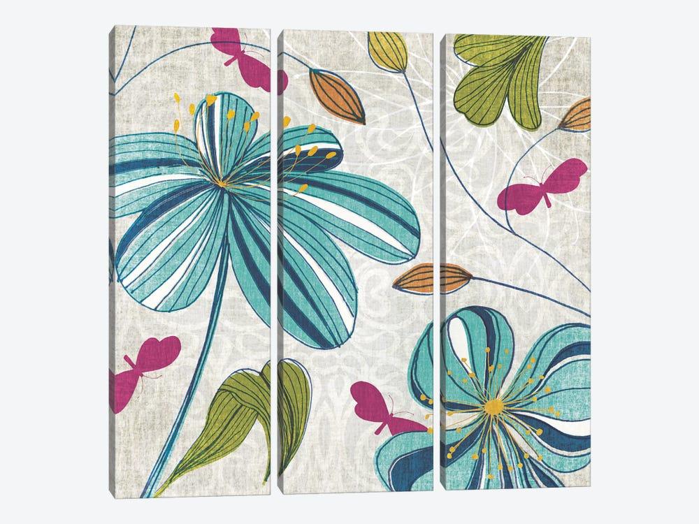 Flowers & Butterflies by Tandi Venter 3-piece Art Print