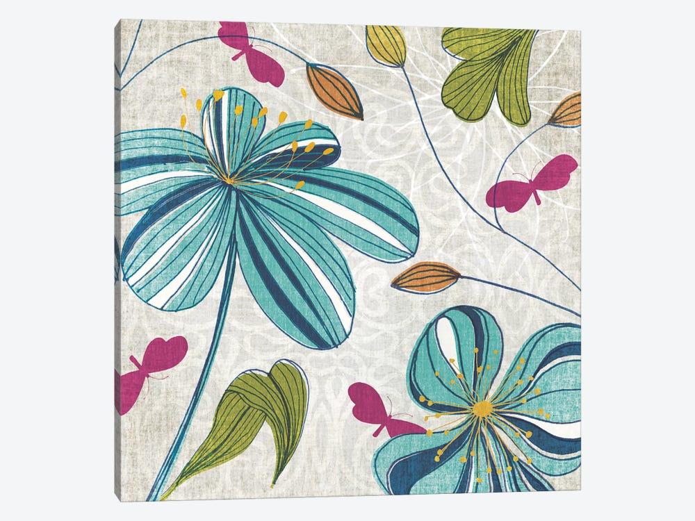 Flowers & Butterflies by Tandi Venter 1-piece Canvas Print