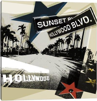 Hollywood Blvd. II Canvas Print #TAN92