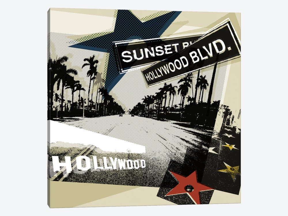 Hollywood Blvd. II by Tandi Venter 1-piece Canvas Art