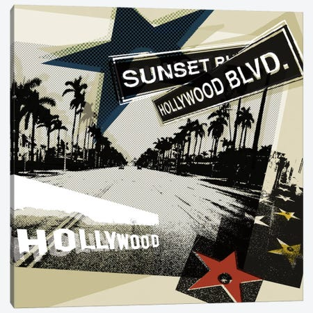 Hollywood Blvd. II Canvas Print #TAN92} by Tandi Venter Art Print