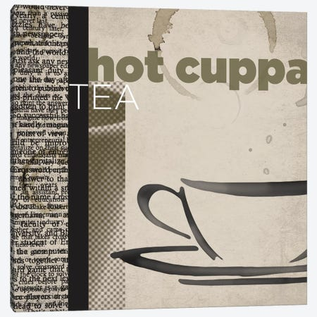 Hot Cuppa Tea Canvas Print #TAN98} by Tandi Venter Canvas Print