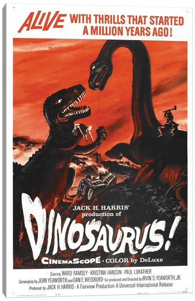 Dinosaurus! (1960) Movie Poster Canvas Art Print
