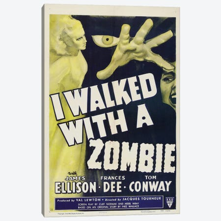 I Walked With A Zombie (1943) Movie Poster Canvas Print #TAP17} by Top Art Portfolio Canvas Art