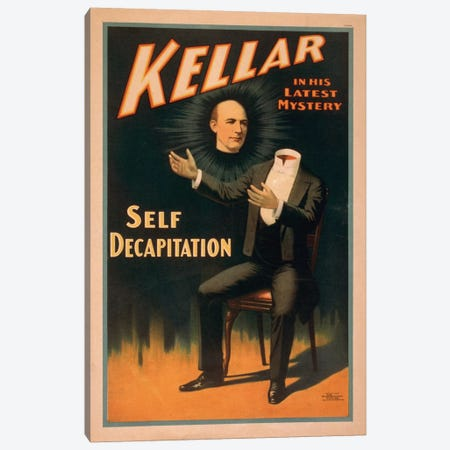 Kellar In His Latest Mystery: Decapitation Vintage Print Canvas Print #TAP20} by Top Art Portfolio Canvas Art
