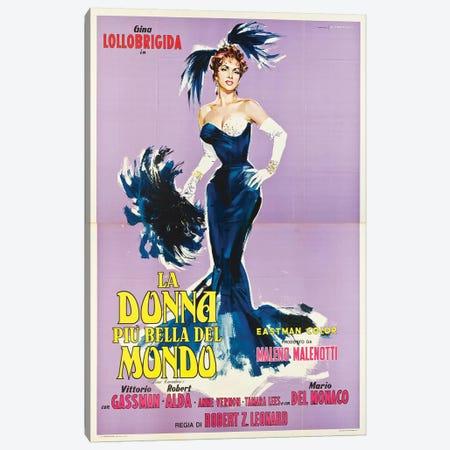 La Donna Piu Bella Del Mondo Starring Gina Lollobrigida (1955) Movie Poster Canvas Print #TAP21} by Top Art Portfolio Canvas Art