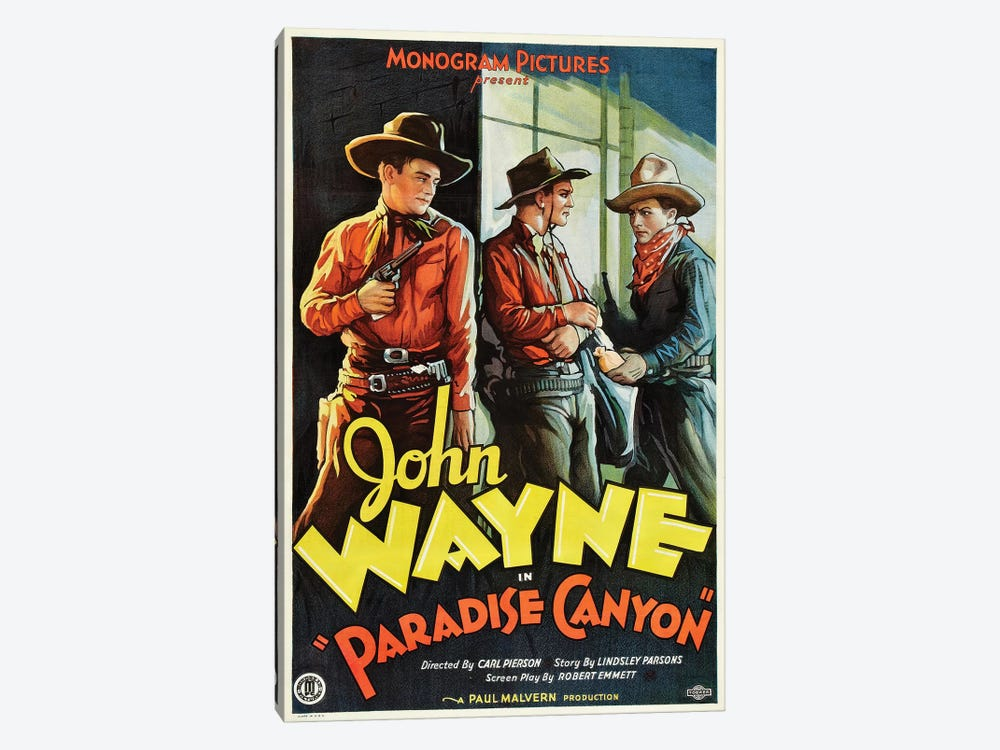 Paradise Canyon Starring John Wayne (1935) Movie Poster by Top Art Portfolio 1-piece Art Print