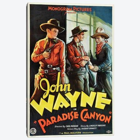 Paradise Canyon Starring John Wayne (1935) Movie Poster Canvas Print #TAP22} by Top Art Portfolio Canvas Wall Art