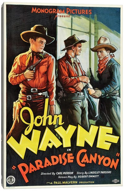 Paradise Canyon Starring John Wayne (1935) Movie Poster Canvas Art Print
