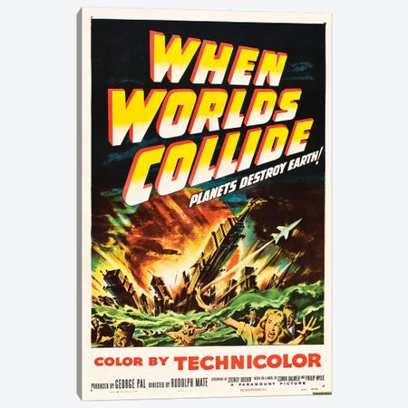 When Worlds Collide (1951) Movie Poster Canvas Print #TAP26} by Top Art Portfolio Art Print