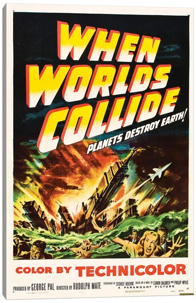 When Worlds Collide (1951) Movie Poster Canvas Art Print