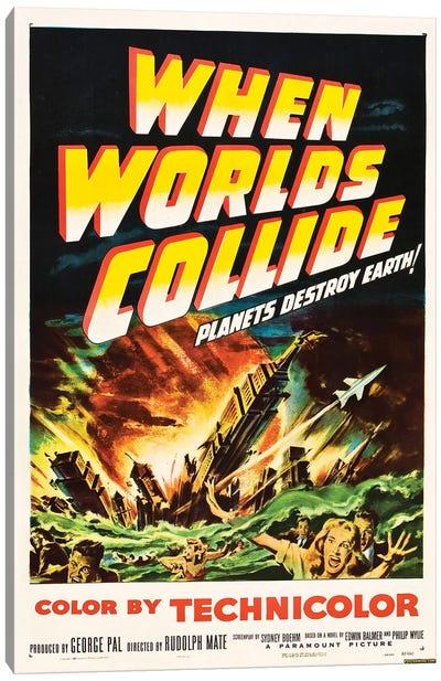 When Worlds Collide (1951) Movie Poster Canvas Art Print