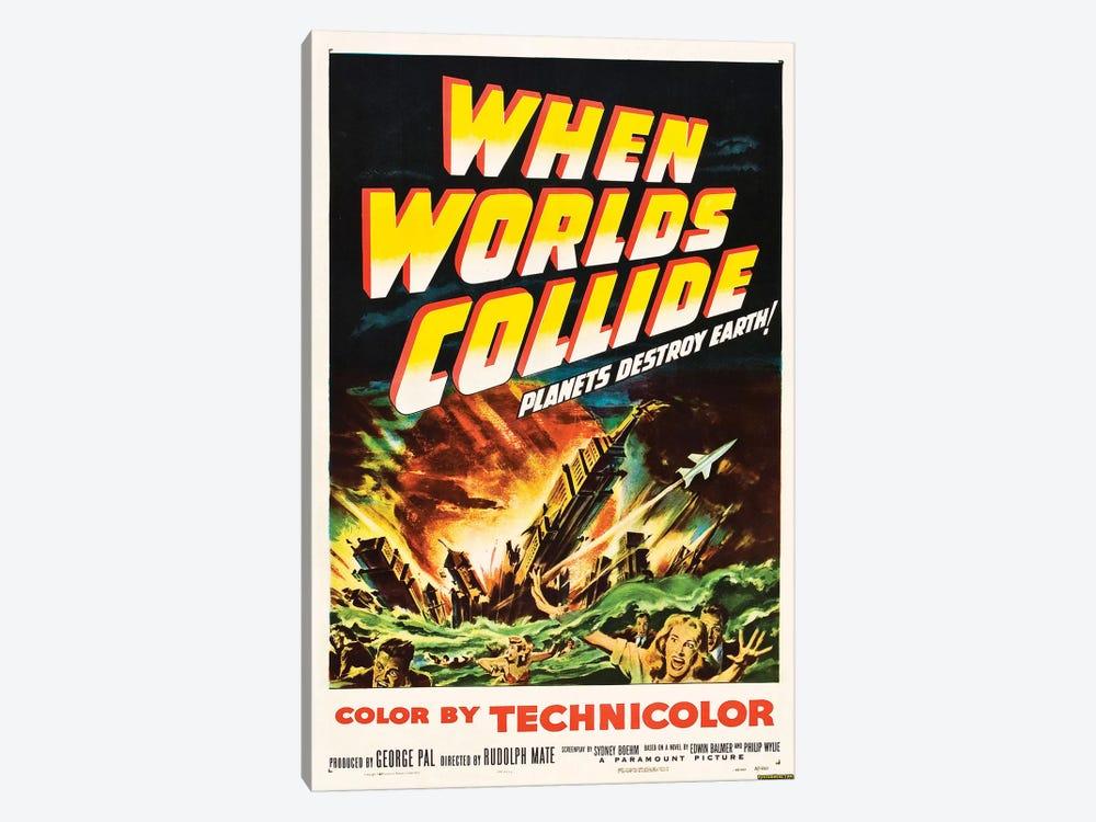 When Worlds Collide (1951) Movie Poster by Top Art Portfolio 1-piece Canvas Print