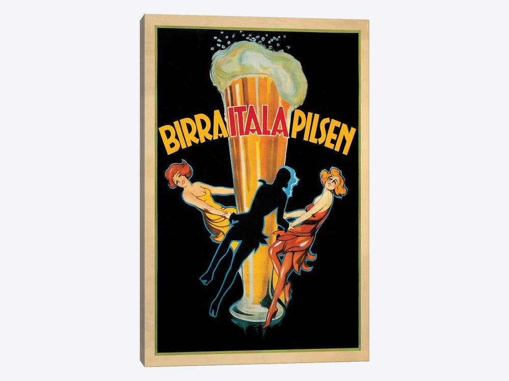 Birra Itala Pilsen, 1920 Ca. by Top Art Portfolio 1-piece Canvas Art